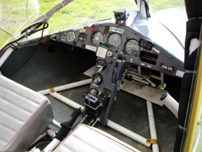 Cyclone AX3 G-MYRO Instrument Panel Pre-Restoration