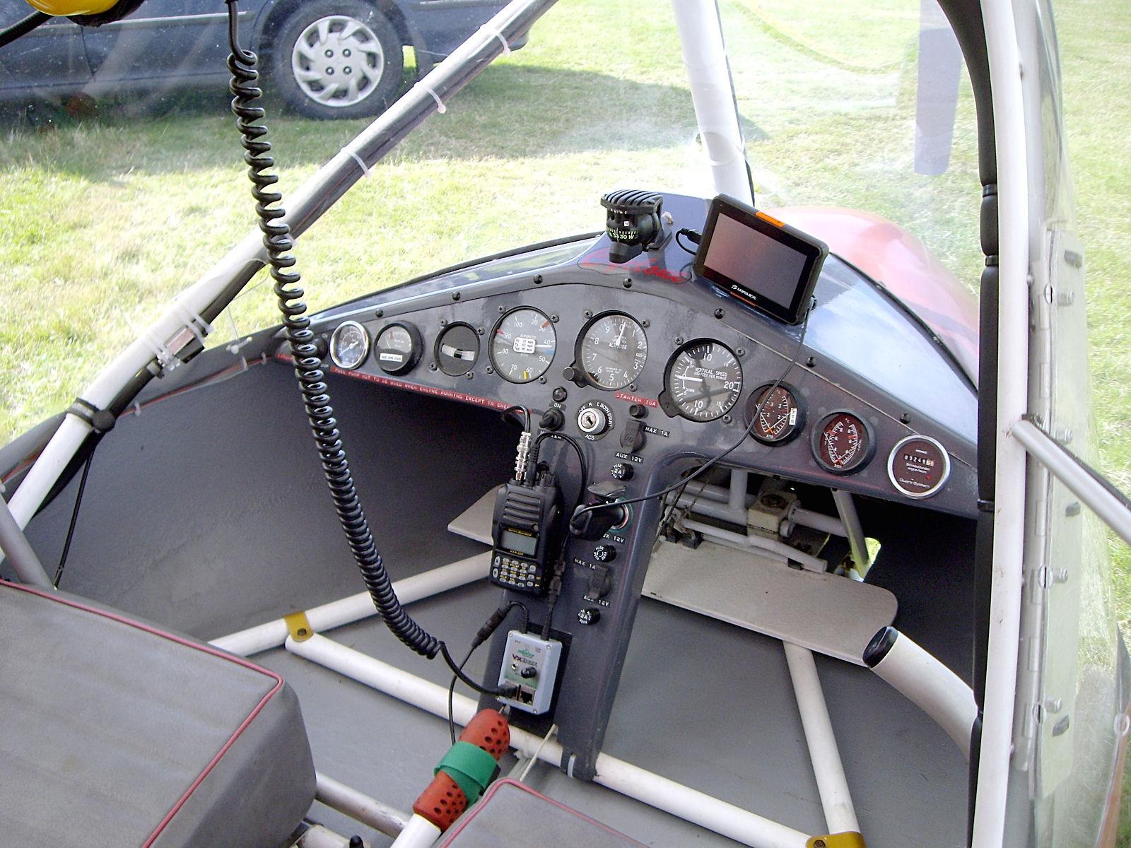 Cyclone AX3 G-MYRO Instrument Panel Post-Restoration