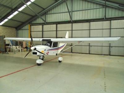 ICP Savannah MXP 740 in the hangar at la Ferté Gaucher