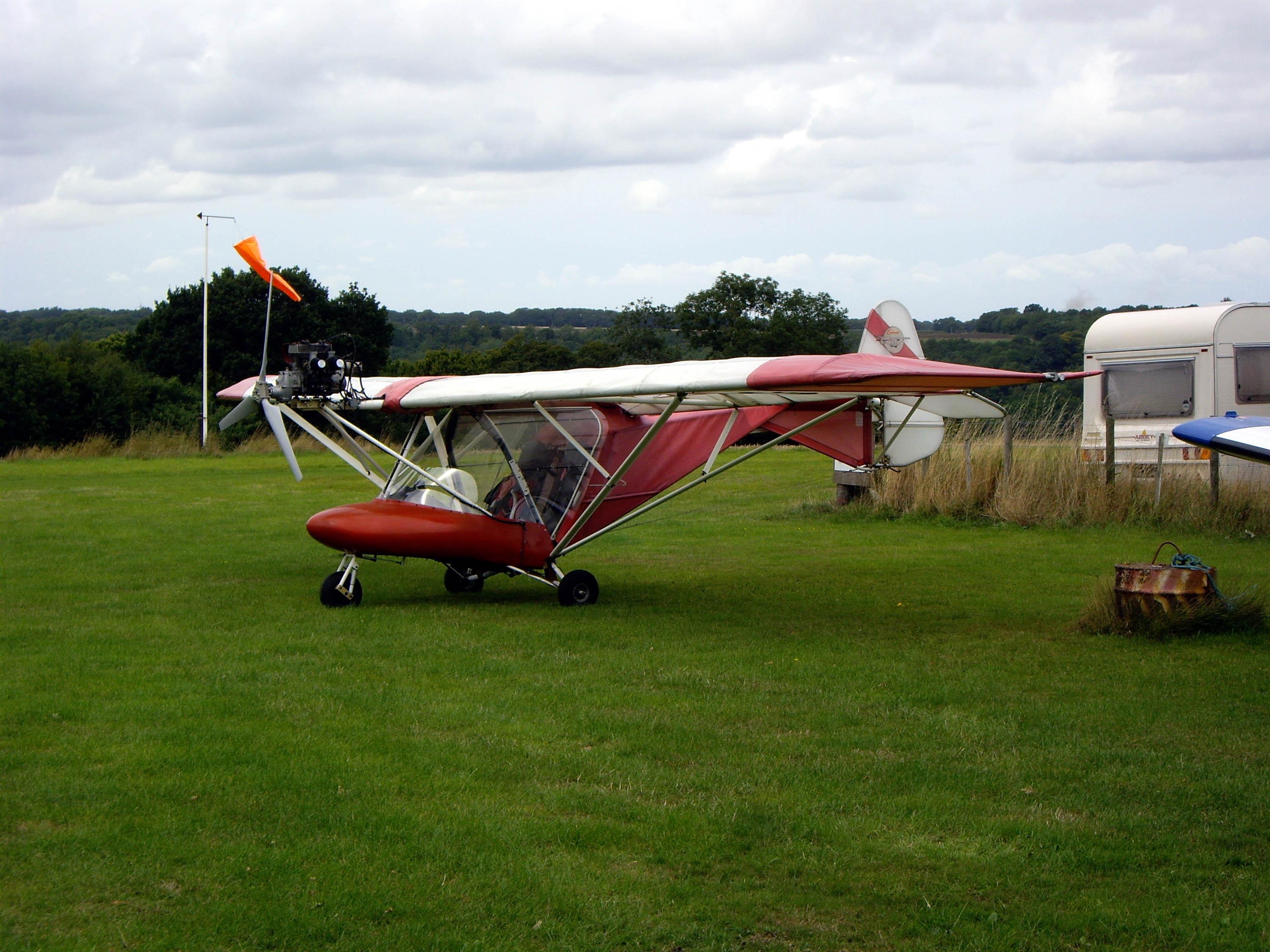 Cyclone AX3 G-MYRO Check-Flight, Clipgate Farm